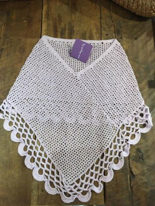 Ponchos tejidos a crochet en algodon!
